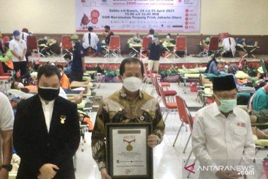 Jusuf Kalla hadiri gerakan donor darah di Jakarta Utara