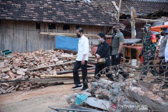 Presiden: Pemerintah bantu warga bangun rumah rusak akibat gempa