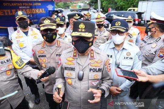 Kakorlantas: Polisi jaga jalur-jalur tikus Jatim antisipasi mudik