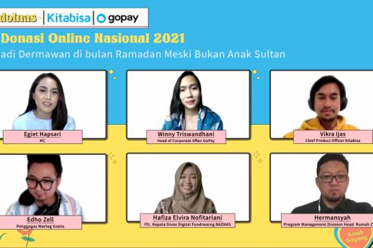 GoPay dan Kitabisa.com ajak masyarakat bersedekah di Hardolnas