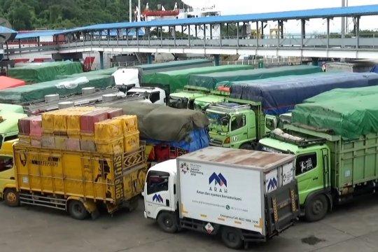 ASDP Merak tetap layani penyeberangan angkutan logistik