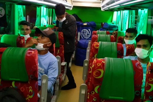 Pengungsi Rohingya tinggalkan Lhokseumawe menuju Medan