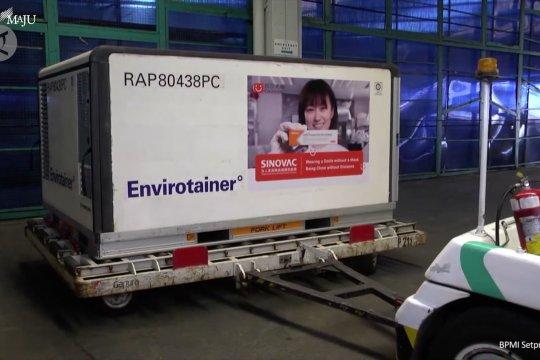 Vaksin Sinovac tahap kedelapan tiba di Indonesia
