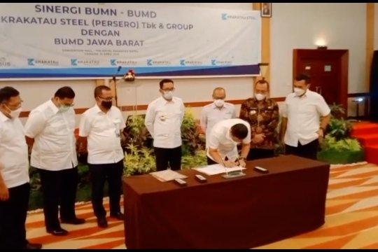 Gubernur Jabar bawa 3 BUMD jajaki kerja sama dengan Krakatau Steel