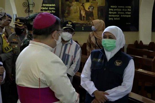 Khofifah pastikan keamanan jalannya ibadah Paskah di Jatim