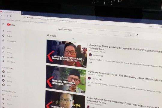 Kominfo blokir 20 konten Youtube Paul Zhang
