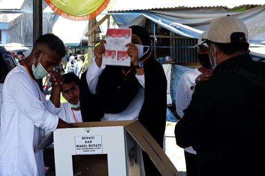 6 TPS gelar PSU Pilkada Halmahera Utara