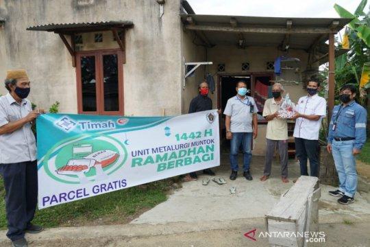 PT Timah bersama PWI salurkan bingkisan Ramadhan di Mentok