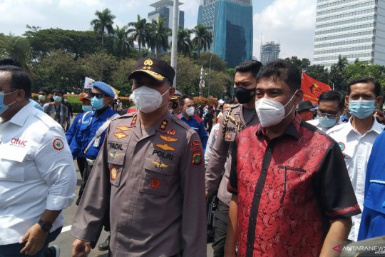 Kapolda Metro Jaya antar perwakilan buruh menuju MK