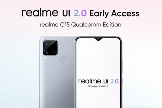 Program akses awal Realme UI 2.0 dirilis untuk C15 Qualcomm Edition