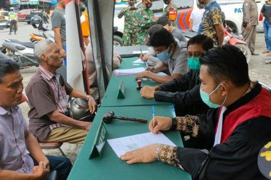 686 pelanggar prokes di Riau disidang di tempat