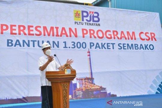PLTU Tenayan distribusikan 1.300 paket sembako bagi warga Pekanbaru