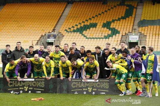 Norwich juara divisi dua Inggris sekaligus tutup slot playoff promosi