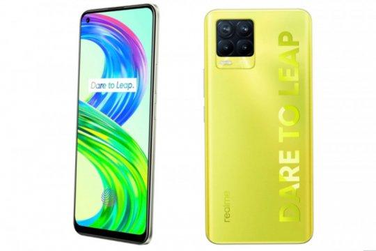 Realme 8 Pro warna lluminating Yellow bisa bercahaya dalam gelap