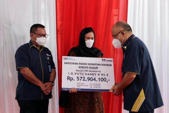 Asabri berikan santunan kematian kepada keluarga Kabinda Papua