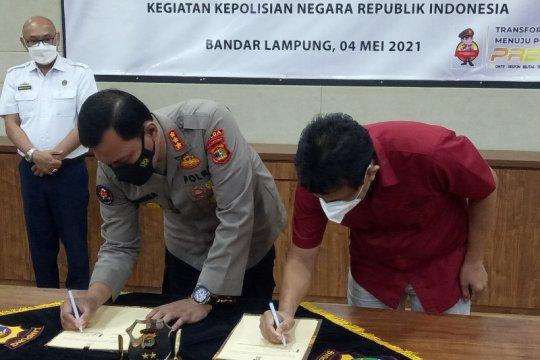 Polda Lampung dan LKBN ANTARA jalin kerja sama pemberitaan