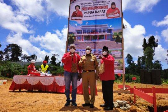 Gedung Sekretariat DPD PDI Perjuangan Papua Barat mulai dibangun