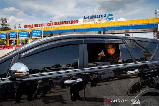 Posko penyekatan pemudik di Kota Semarang