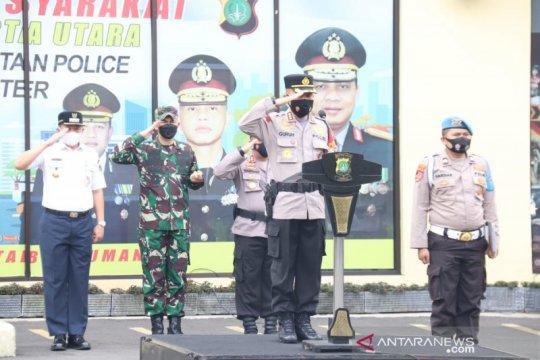 233 personel tiga pilar ikut apel pasukan serentak di Jakarta Utara