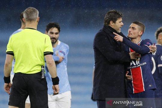 Kartu merah runtuhkan kepercayaan diri PSG, kata Verratti
