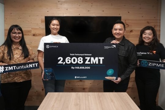 Zipmex Indonesia galang dana untuk NTT pakai aset kripto