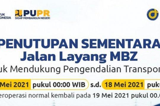 Larangan mudik, Tol Layang MBZ ditutup mulai 6 Mei pukul 00.00 WIB