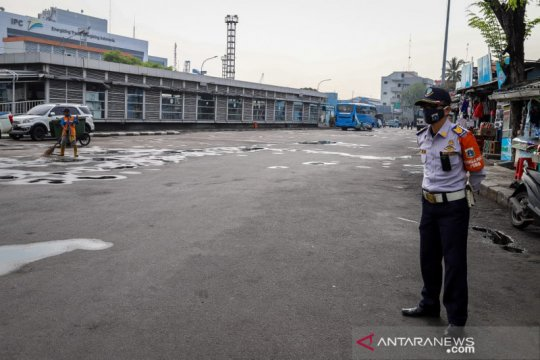 Larangan mudik, Terminal Tanjung Priok hanya hentikan bus AKAP