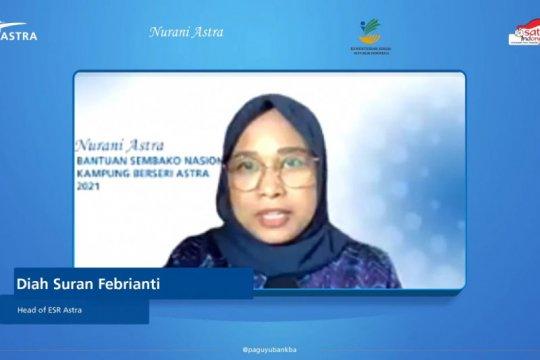 Nurani Astra serahkan bantuan sembako Rp3,06 miliar di 34 provinsi