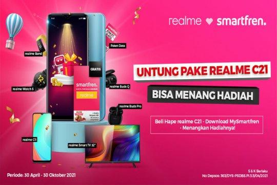 Pakai Smartfren di Realme C21 dapat lebih banyak hadiah