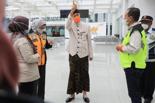 Ganjar sidak Bandara Semarang terkait lolosnya penumpang positif
