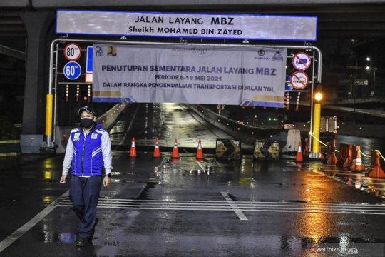 Jasa Marga tutup sementara ruas tol layang MBZ untuk dukung larangan mudik