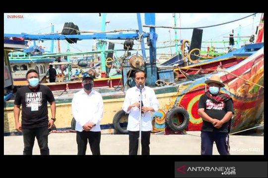 Presiden Jokowi sanggupi permintaan nelayan di Brondong Lamongan