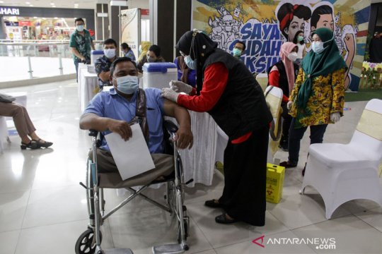 Jumlah penerima vaksin COVID-19 capai 13.136.686 orang