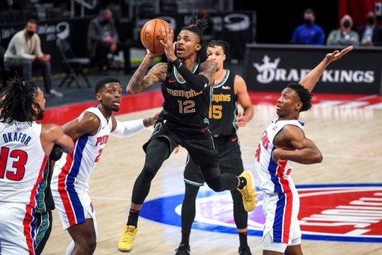 Detroit Pistons petik kemenangan 111-97 atas Memphis Grizzlies