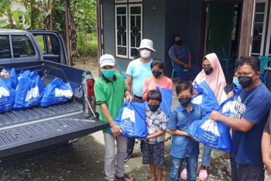 Jelang Idul Fitri 1442 H, DSLNG berbagi santunan kepada anak yatim