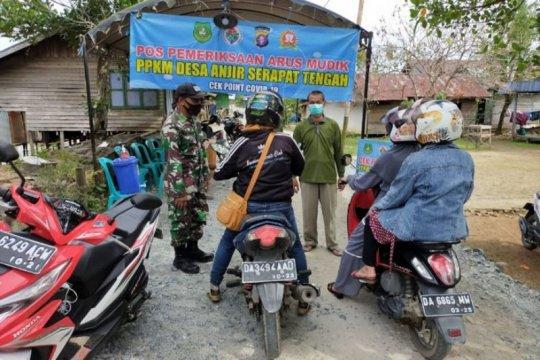 'Jalan tikus' pun dijaga petugas di perbatasan Kalteng-Kalsel