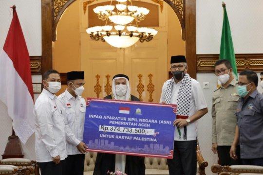 ASN Pemerintah Aceh dan vertikal sumbang Rp374 juta buat Palestina