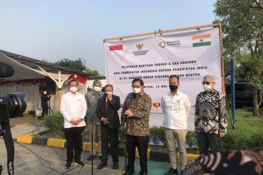 RI kirim bantuan oksigen untuk korban pandemi COVID-19 di India
