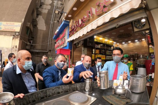 Jelang akhir Ramadhan, kedai kopi produk Indonesia dibuka di Kairo