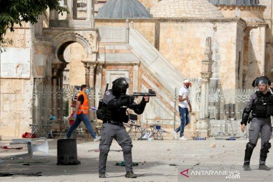 Israel peringati Hari Yerusalem, bentrokan meletus di Masjid Al-Aqsa