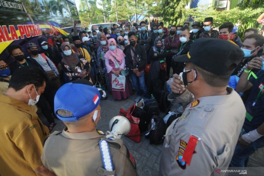 Karantina pekerja migran di Pamekasan