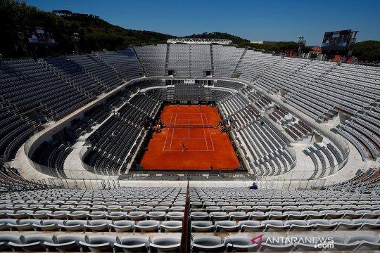 Kosong melompong tanpa penonton, begini penampakan turnamen tenis Italia Terbuka