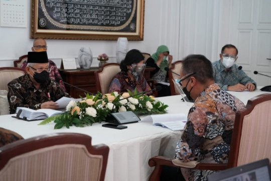 Wapres pimpin rapat koordinasi bahas KIH dan sertifikat halal