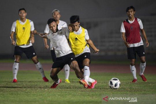 Latihan Timnas Indonesia jelang menghadapi UEA