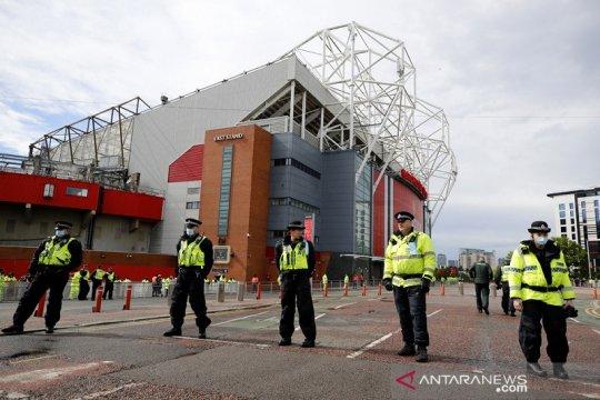Old Trafford dijaga ketat jelang MU vs Leicester