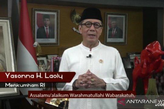 Menkumham ucapkan selamat Hari Raya Idul Fitri bagi Muslim Indonesia