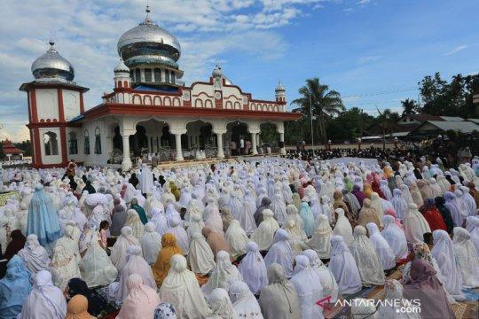 Ribuan umat Islam di Nagan Raya Aceh sudah rayakan Idul Fitri