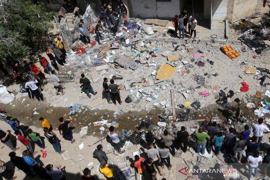 Begini penampakan hancurnya permukiman Jalur Gaza akibat serangan udara Israel