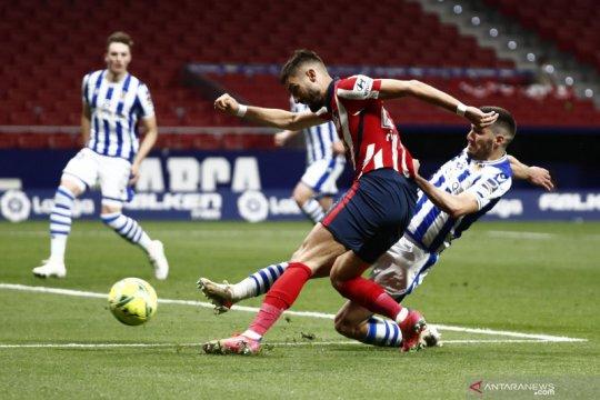 Bekuk Sociedad 2-1, Atletico Madrid makin dekat dengan trofi La Liga