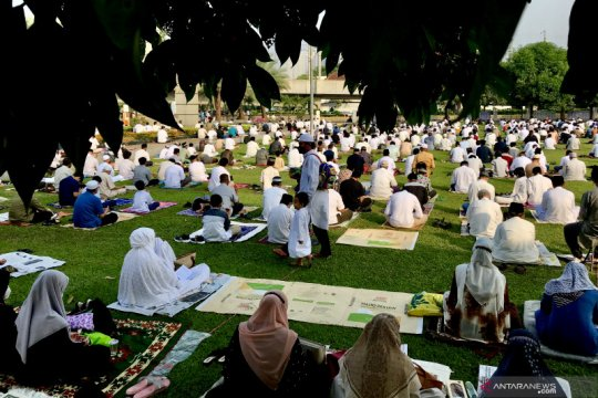 Masjid Al-Azhar Jakarta ingatkan jamaah shalat Idul Fitri taat prokes
